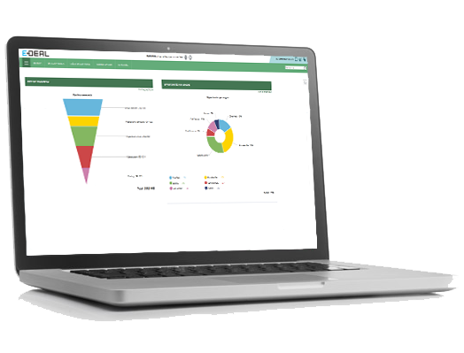 a CRM for managers with KPI and reporting