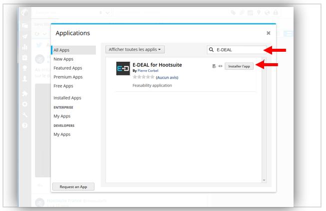  Dans le résultat, cliquez sur le bouton « Installer l'app ».